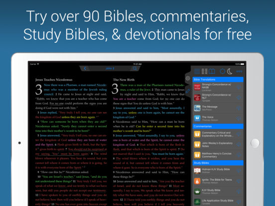 NIV Bible screenshot