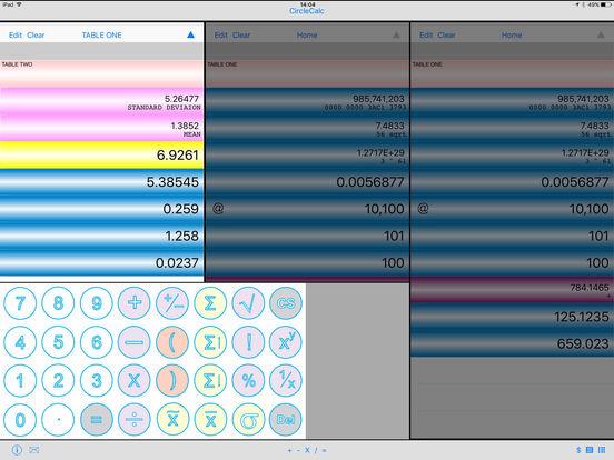 CircleCalc iPad Screenshot 2