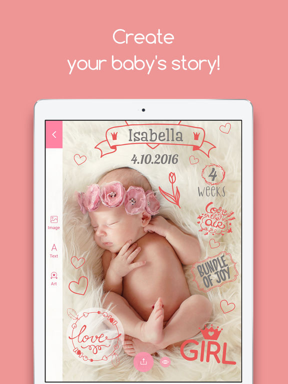 Tiny Memories - Photo Editor for Baby Pics Screenshots