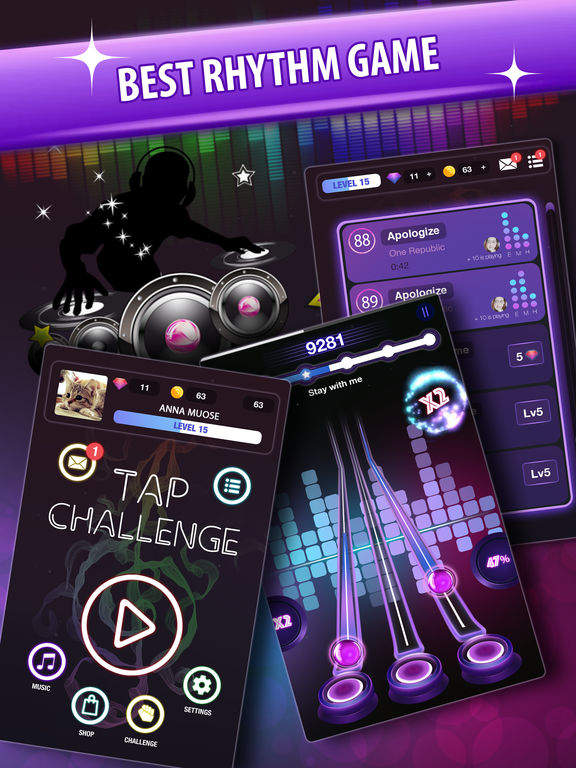 Tap Challenge: EDM and Top Billboard Hits screenshot