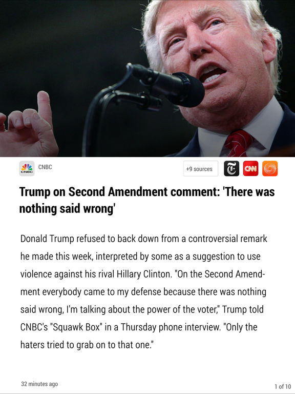 Simply News - The award-winning news app that gives you breaking news from many sources, each article automatically summarized screenshot