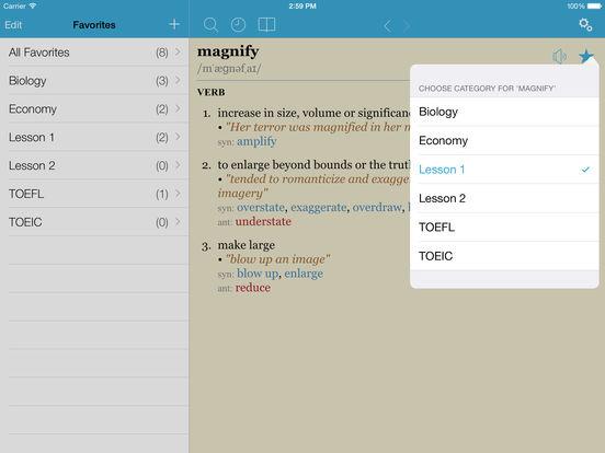 LexicEN English Dictionary & Thesaurus (Lite Version) iPad Screenshot 4