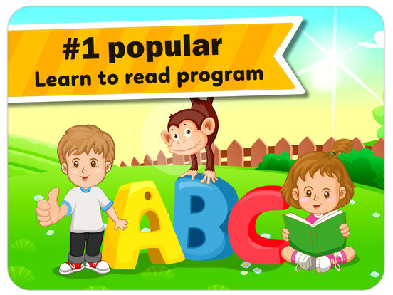 Monkey Junior: kids learn to read English, French, Spanish, Vietnamese, Chinese screenshot