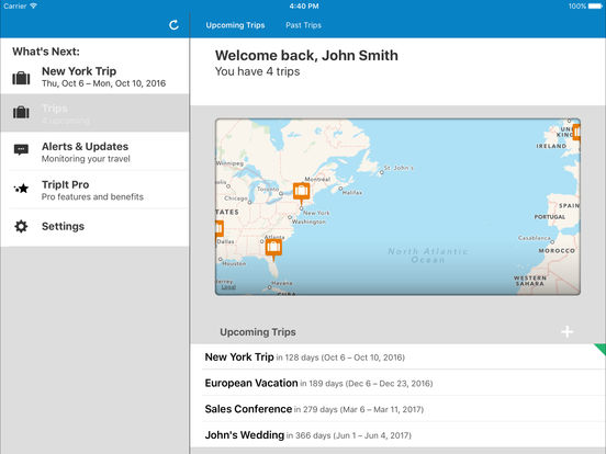 TripIt: Unsupported Version Screenshots