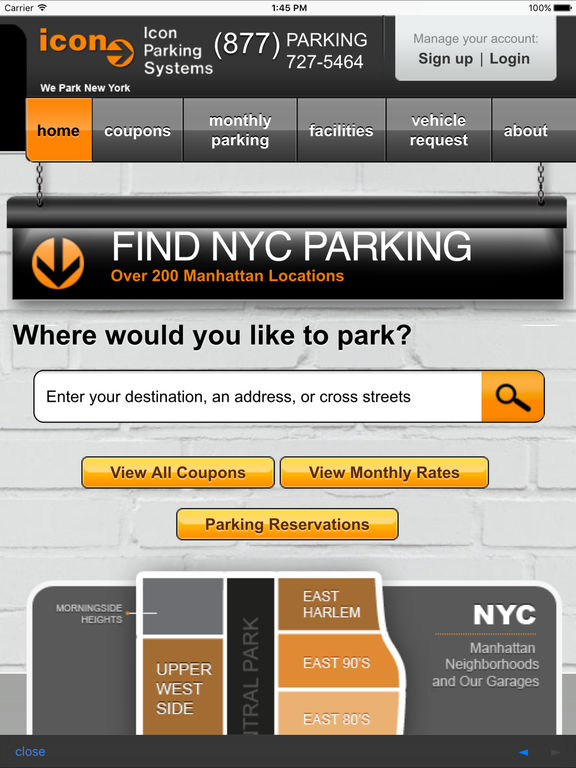 Icon discount parking coupons