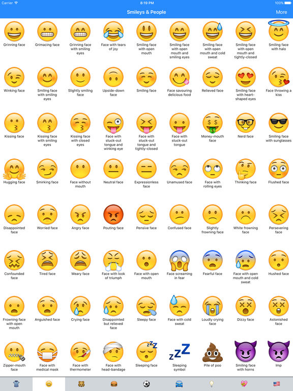 Emoji face meanings iphone