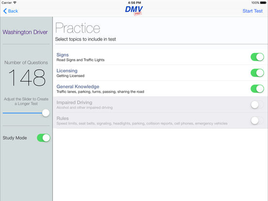 DMV Test Prep - Washington iPad Screenshot 2