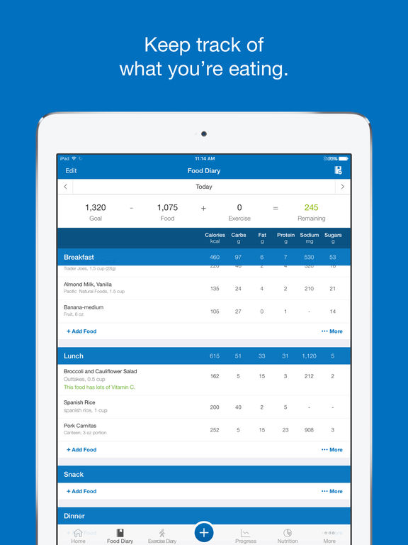 Calorie Counter & Diet Tracker by MyFitnessPal screenshot