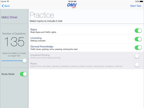 DMV Test Prep - Idaho iPad Screenshot 2