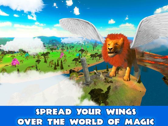 Wild Flying Lion Simulator 3D Full screenshot 6