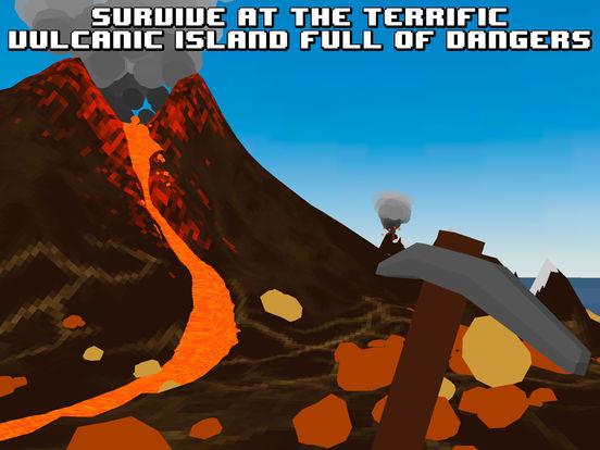 Pixel Volcano Island Survival Simulator 3D Full Screenshots