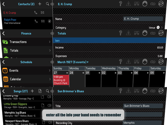 BandHelper screenshot