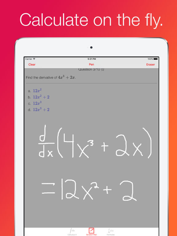 Calculus X: College and AP Calc Test Prep and Tools Screenshots