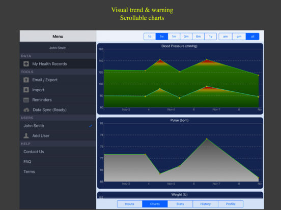 Blood Pressure Monitor - Family Lite screenshot