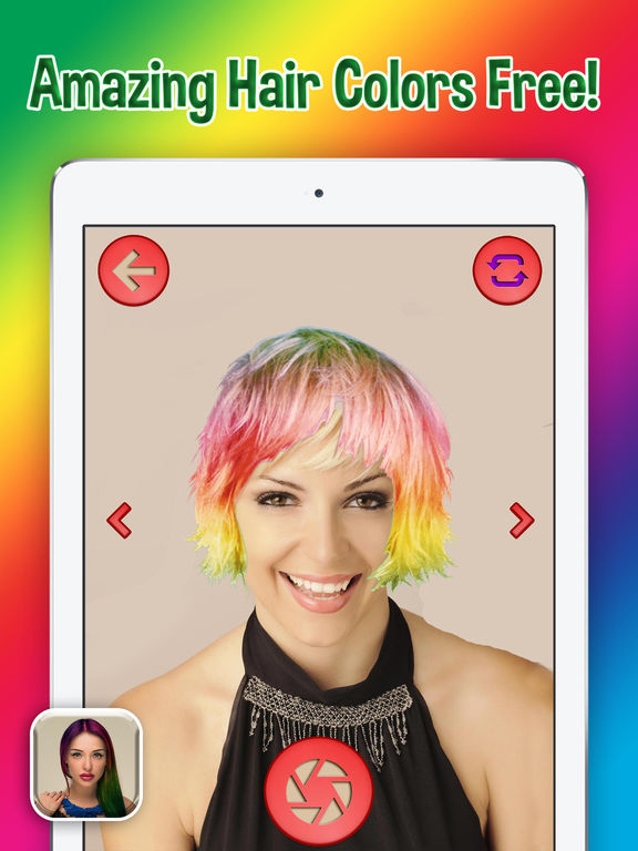 App Shopper Rainbow HairStyle Color  Virtual Beauty Salon For Modern Dye An