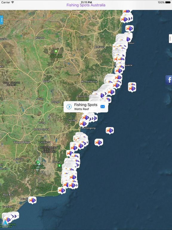 Fishing spots australia on the app store for Fishing spot app