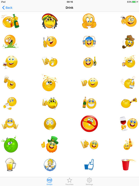 Keyboard emoticons