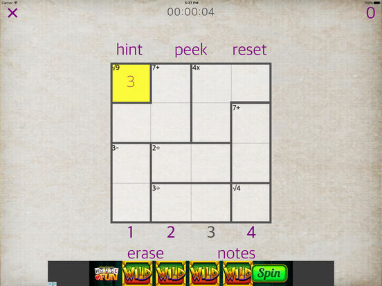 Sudoku Math iPad Screenshot 1