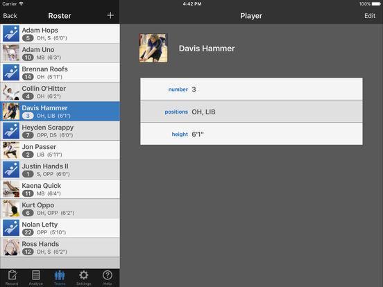 iStatVball 2 iPad Edition iPad Screenshot 4
