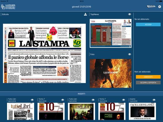 La Stampa iPad Edition iPad Screenshot 1