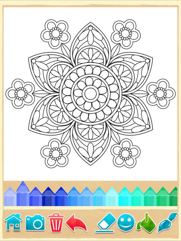 coloring book ios mandala coloring pages game apprecs