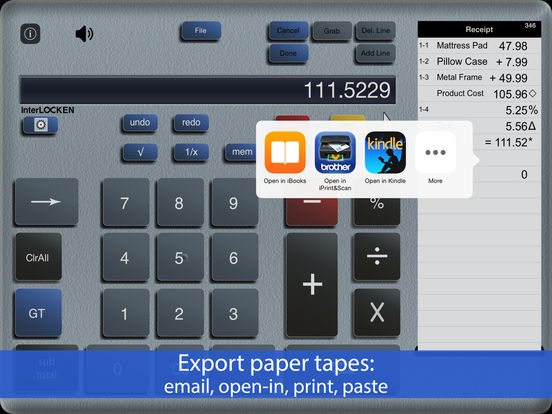 ✓ Accountant for iPad - adding machine calc calculator with paper tape iPad Screenshot 2