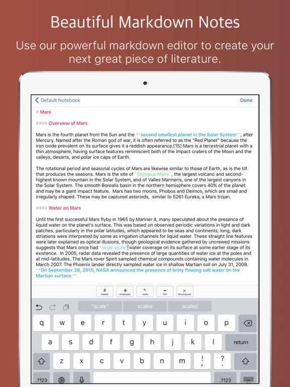 Mars Writer - Powerful Markdown Notes Screenshots
