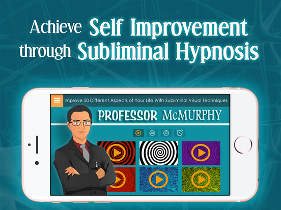 Professor McMurphy Subliminal Video Messages for Self Improvement with Isochronic Binaural Beats and Relaxing Sounds of Hypnosis screenshot