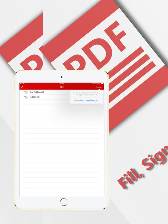 PDF Fill and Sign any Document Screenshots