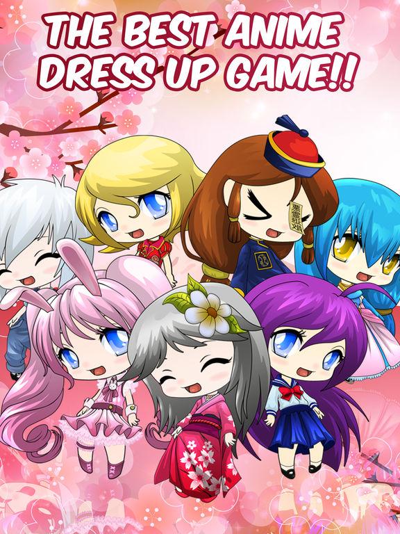 Anime Avatar Girls Free Dress-Up Games For Kidsscreeshot 1
