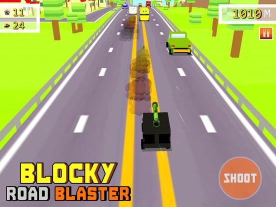 Blocky Road Blaster - 3D ( Fun Race & Shoot Game ) для iPad