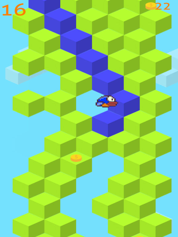 Flappy Qubes - A Replica of the Original Impossible Qubed Bird Game is Back Screenshot
