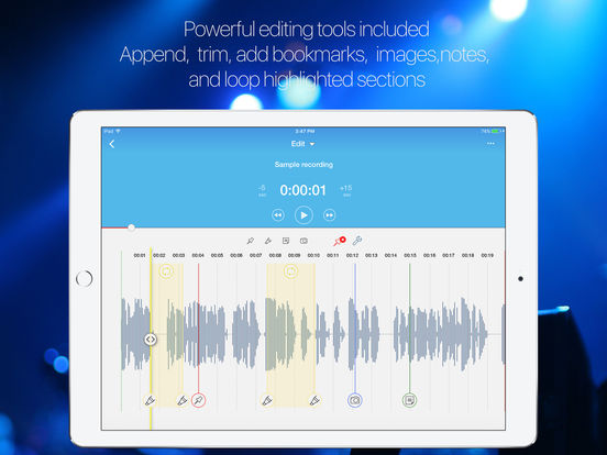 Voice recorder and audio notes by Audioholic screenshot