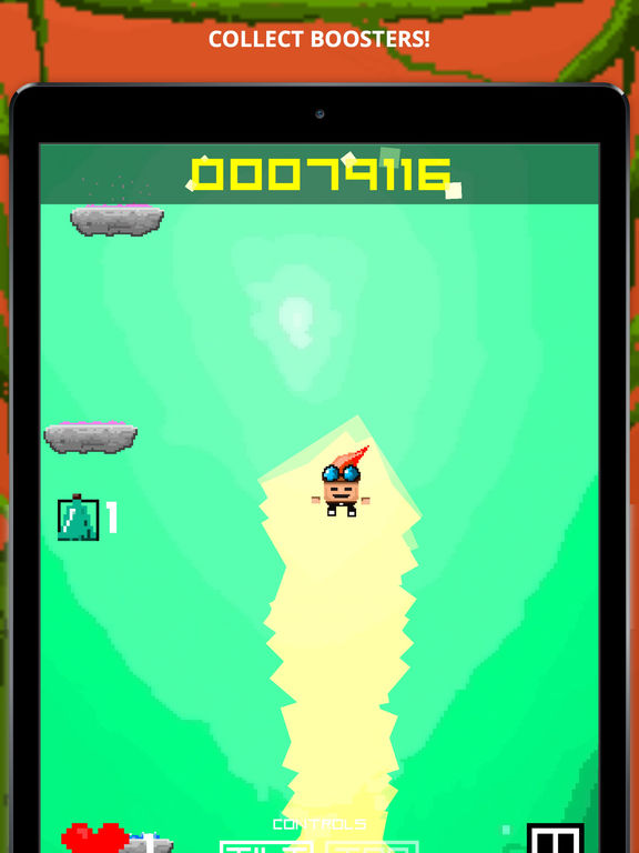 Pixel Jump - Endless Gun Jumper Game Screenshot