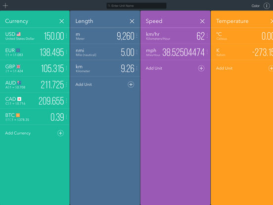 Fancy Units & Currency Converter Offline - Plus! Screenshots