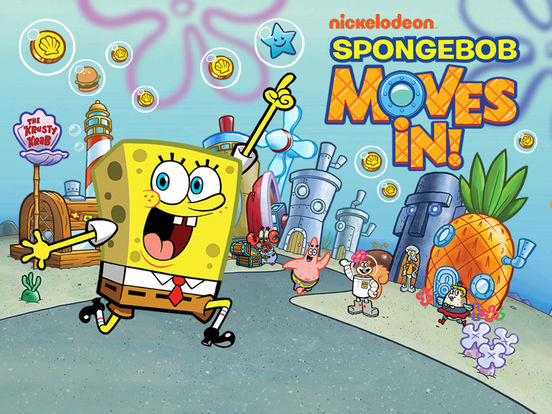 SpongeBob Moves In App iPhone Screenshot #1 (© Nickelodeon)