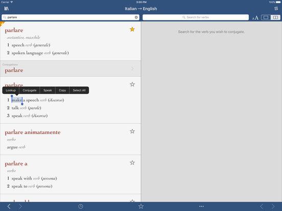 Italian-English Translation Dictionary by Ultralingua iPad Screenshot 1