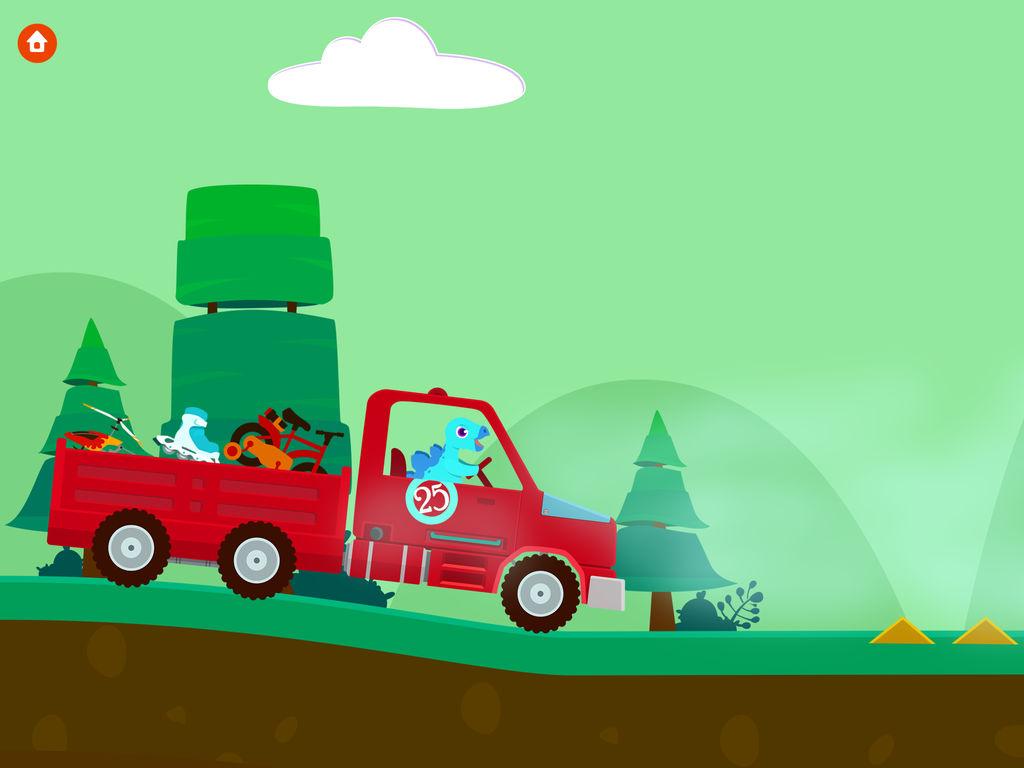 和小恐龙一起开卡车吧!你可以组装喜欢的卡车,运送的货物有水果,饼干,蛋糕,玩具,还有汽车!记得要将货物送到终点,一路上愉快旅行! 在卡车组装车间,孩子组装他们喜欢的卡车,有4个不同的货物运输任务,孩子们可以愉快的玩上一整天! 游戏特色  4个游戏场景  超过30个互动动画  适合2-5岁的学龄前儿童  无第三方广告 Yateland 团队致力于创造孩子喜欢,家长信任的幼儿应用,有任何意见或建议,请访问我们官方网站www.