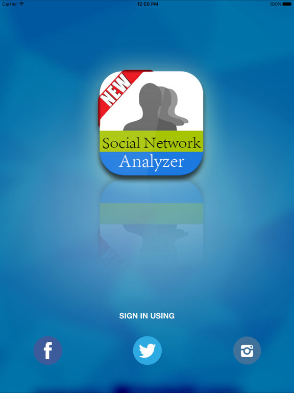 Social Network Analyzer screenshot