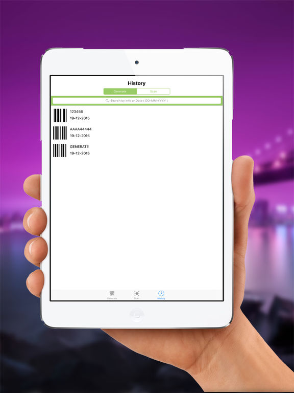 BarCode ToolBox: Bar code, Data Matrix, QRcode generator & reader to generate, share and save it. Screenshots