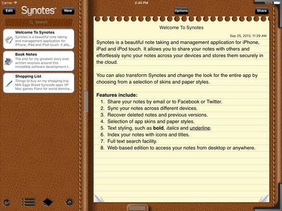 Synotes Mobile iPad Screenshot 2