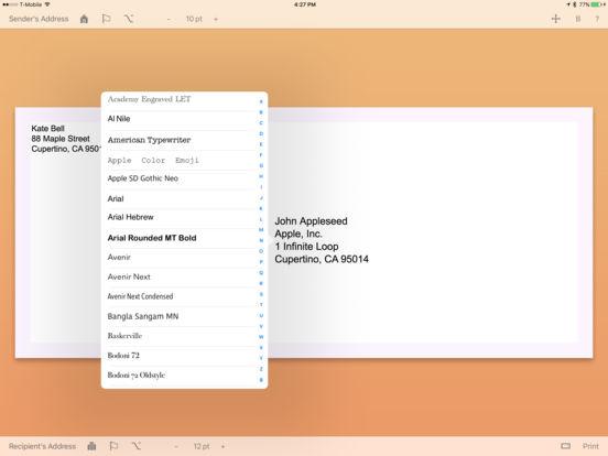 Envelope Maker iPad Screenshot 4