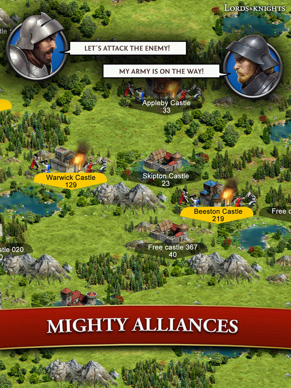 Lords & Knights - Medieval Strategy MMO screenshot