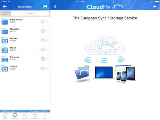CloudMe iPad Screenshot 2