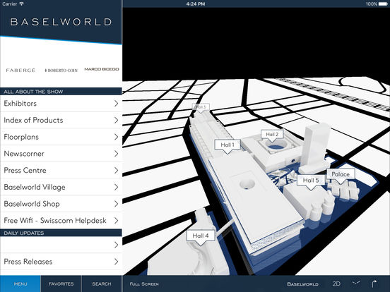 BASELWORLD – Guide for the Watch and Jewellery Show 2011 iPad Screenshot 1