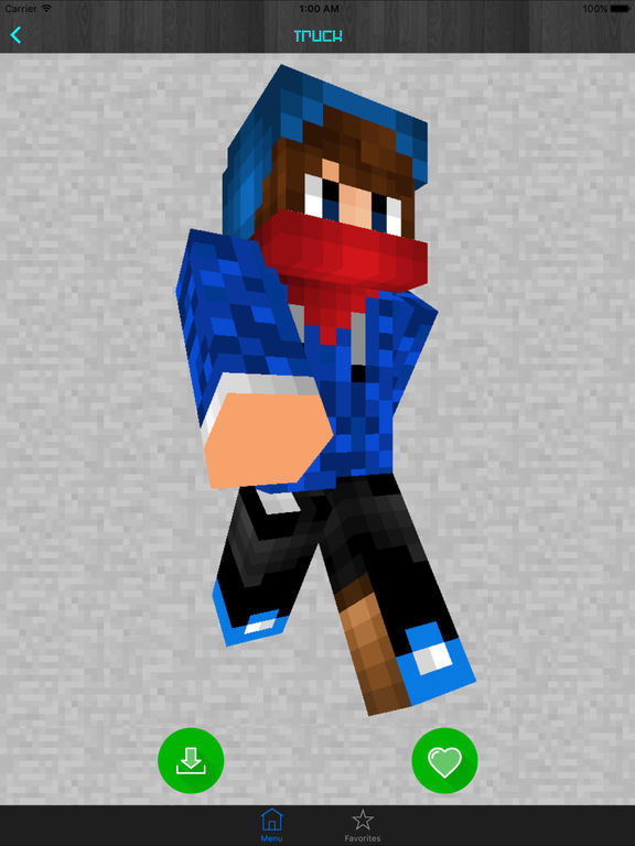 Screenshots of Boy Skins for Minecraft PE (Pocket Edition) - Best Free Skins App for MCPE for iPad