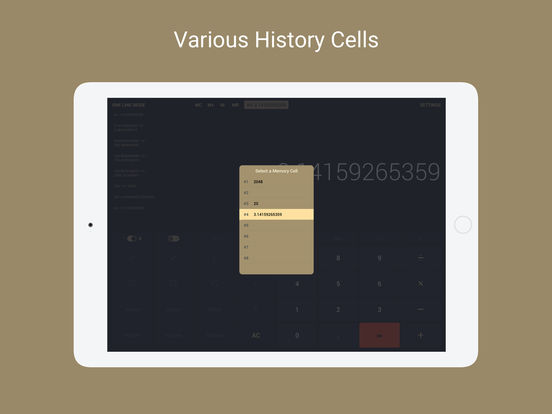 Screenshot #3 for Calcly: Free Universal Calculator for iPad