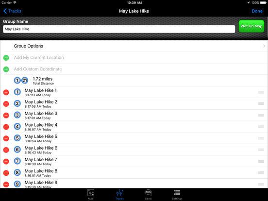 SMS a GPS iPad Screenshot 3