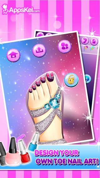 Toe Nail Salon For Fashion Girls - Be The Princess Beauty And Have The Foot With The Best Style