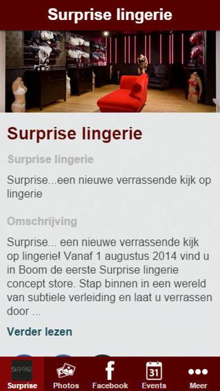 Surprise lingerie